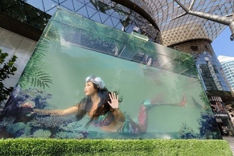 ION Orchard Makes Waves with First Live Mermaid Installation for 10th Anniversary Celebrations