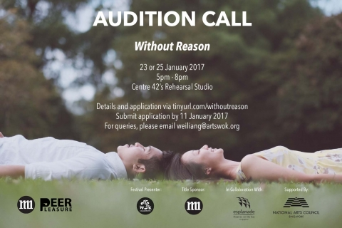Audition Call for Without Reason (for the 2017 M1 Peer Pleasure Youth Theatre Festival)