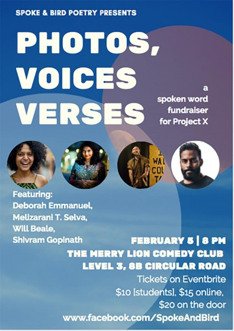 Spoke & Bird Presents: Photos, Voices, Verses - A Fundraiser for Project X