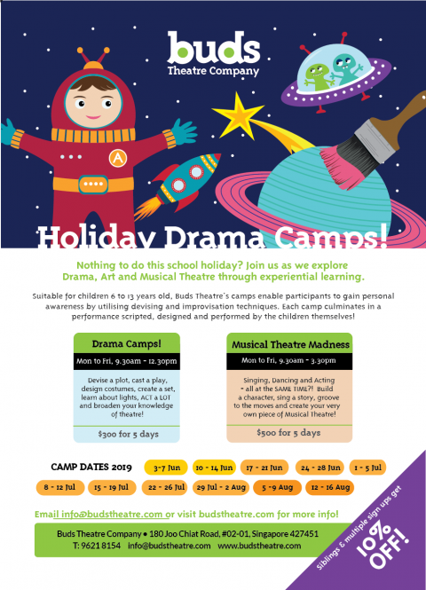 Buds Theatre | Holiday Drama Camps for Kids This June!