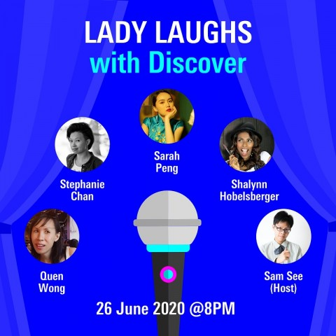 Lady Laughs with Discover