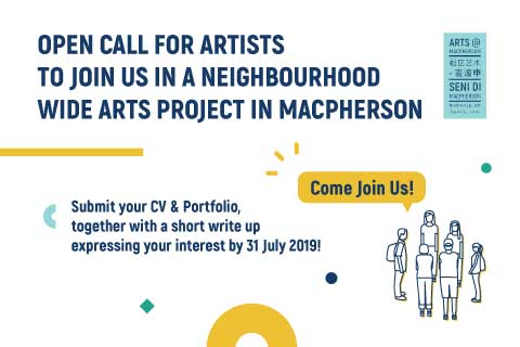 Open Call for Artists for Arts@MacPherson 2019 — 2020!