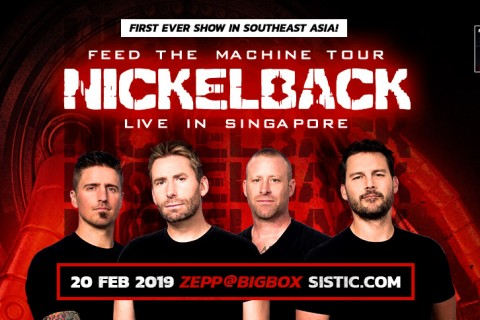 Nickelback - Feed The Machine Tour // First Time Live in Singapore!
